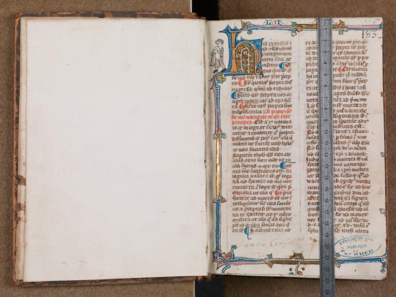 SAINT-OMER, Bibliothèque municipale, 0287, vol. 2, f. 000Bv - f. 001 avec réglet