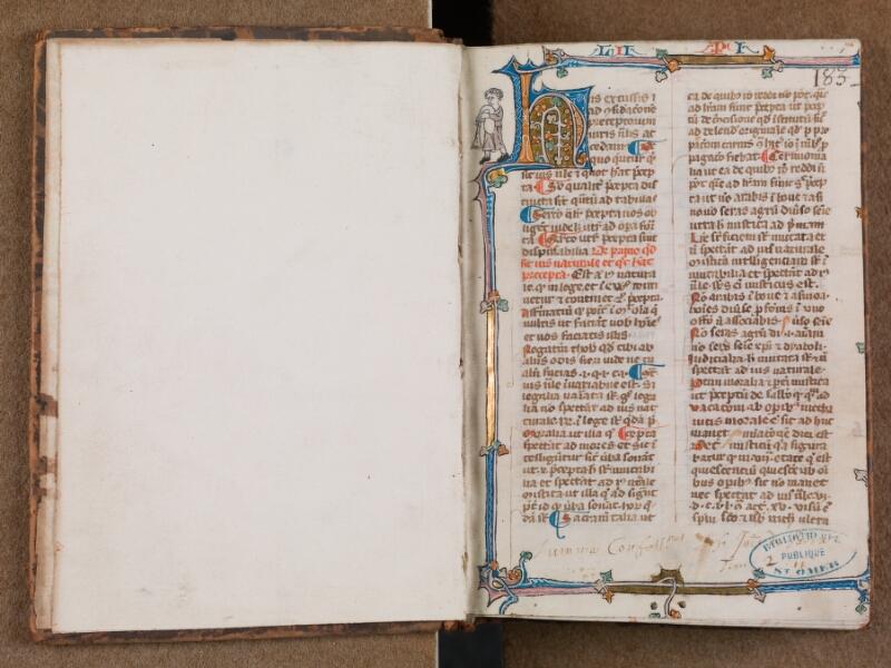 SAINT-OMER, Bibliothèque municipale, 0287, vol. 2, f. 000Bv - f. 001
