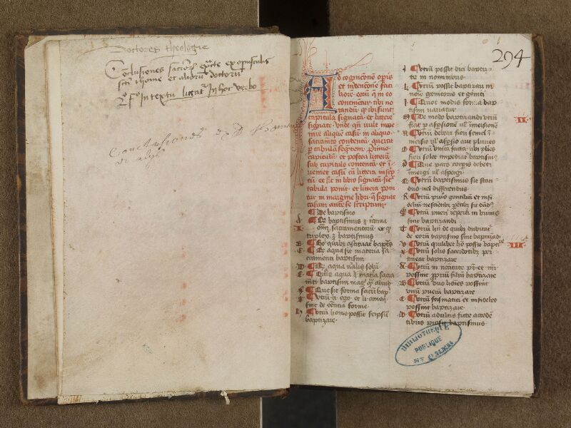 SAINT-OMER, Bibliothèque municipale, 0299, garde verso - f. 001