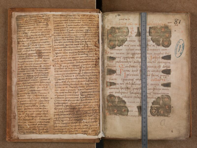 SAINT-OMER, Bibliothèque municipale, 0342 bis, f. 000Bv - f. 001 avec réglet