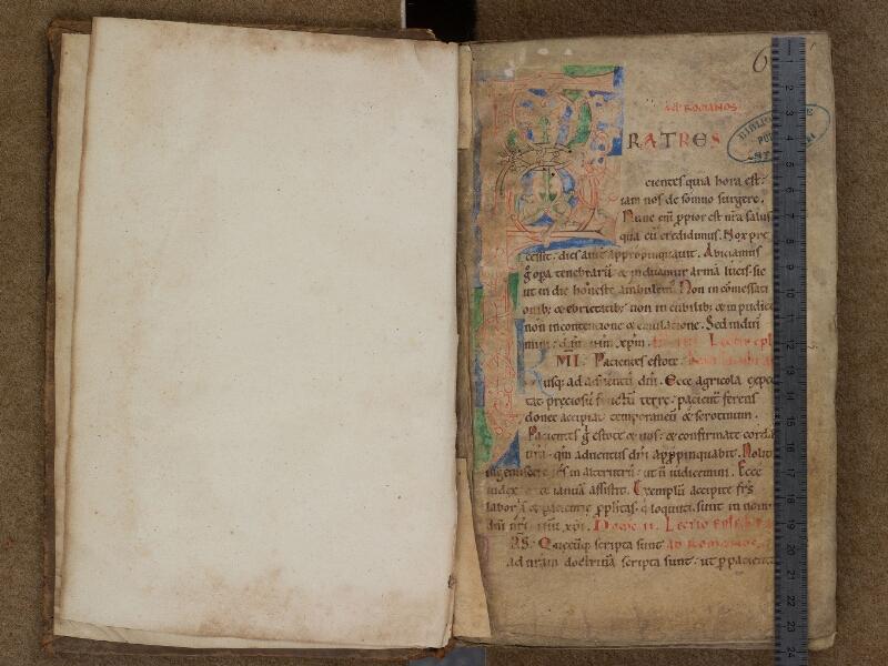 SAINT-OMER, Bibliothèque municipale, 0346, f. 000Av - f. 001 avec réglet