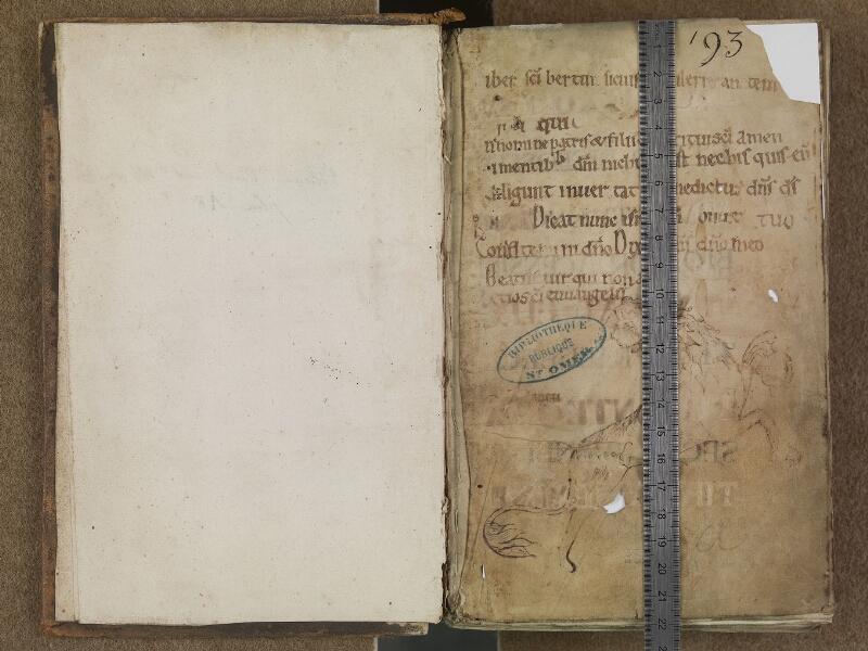 SAINT-OMER, Bibliothèque municipale, 0350, f. 000Av - f. 001 avec églet