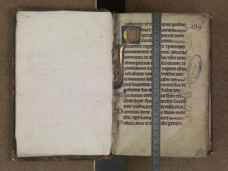 SAINT-OMER, Bibliothèque municipale, 0355, f. 000Av - f. 001 avec réglet