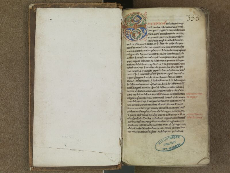 SAINT-OMER, Bibliothèque municipale, 0364, f. 000Av - f. 001