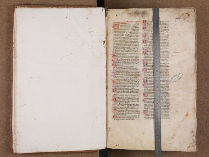 SAINT-OMER, Bibliothèque municipale, 0433, f. 000Cv - f. 001 avec réglet
