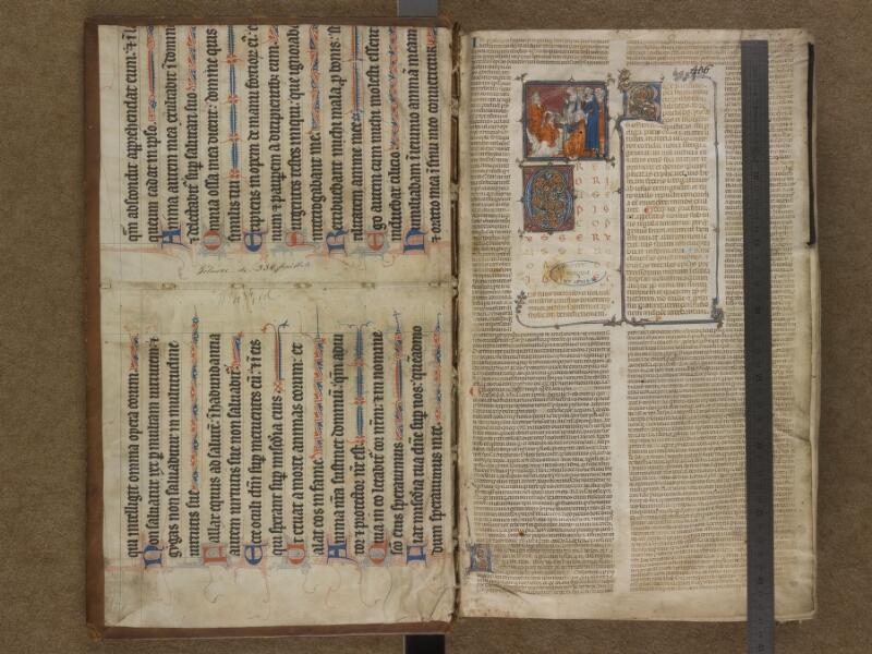 SAINT-OMER, Bibliothèque municipale, 0434, contregarde supérieure - f. 001 avec réglet