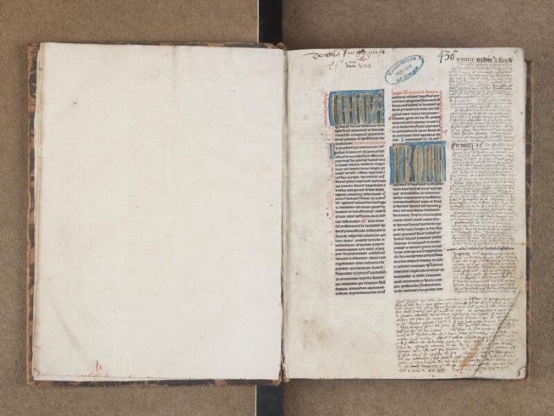 SAINT-OMER, Bibliothèque municipale, 0436, f. 000Bv - f. 001
