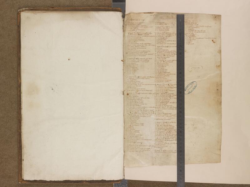 SAINT-OMER, Bibliothèque municipale, 0448, f. 000Av - f. 001 avec réglet