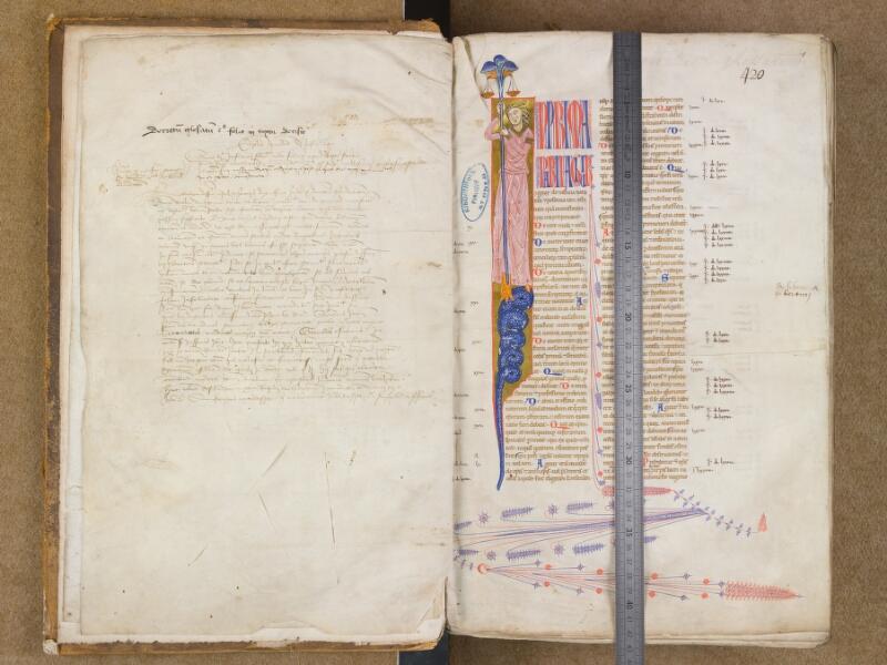 SAINT-OMER, Bibliothèque municipale, 0454, f. 000Dv - f. 001 avec réglet