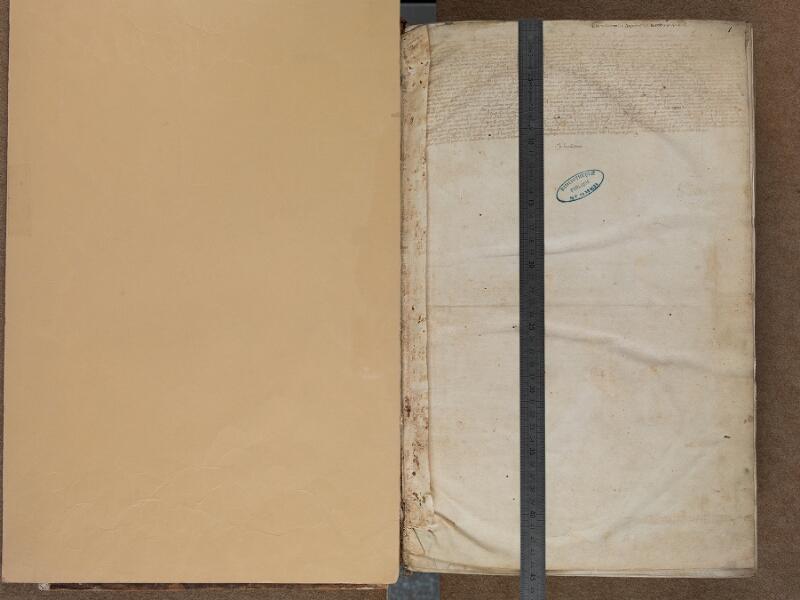 SAINT-OMER, Bibliothèque municipale, 0457, onglet recto - f. 001 avec réglet