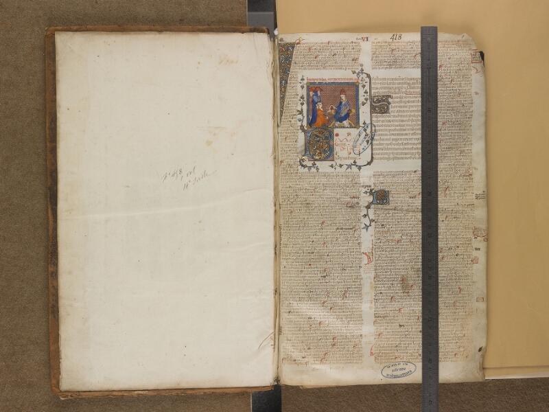 SAINT-OMER, Bibliothèque municipale, 0458, f. 000Av - f. 001 avec réglet