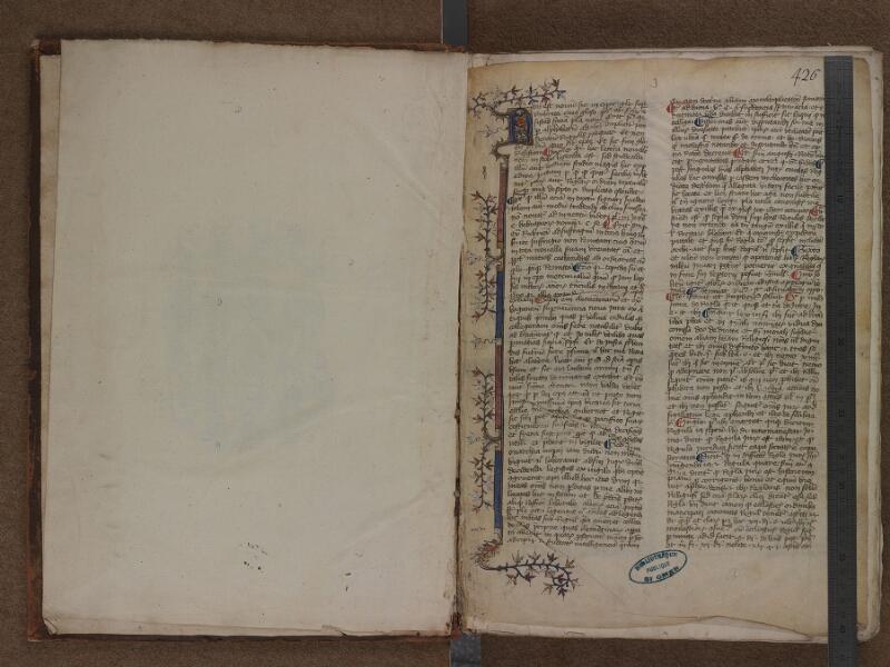SAINT-OMER, Bibliothèque municipale, 0460, f. 000Av - f. 001 avec réglet
