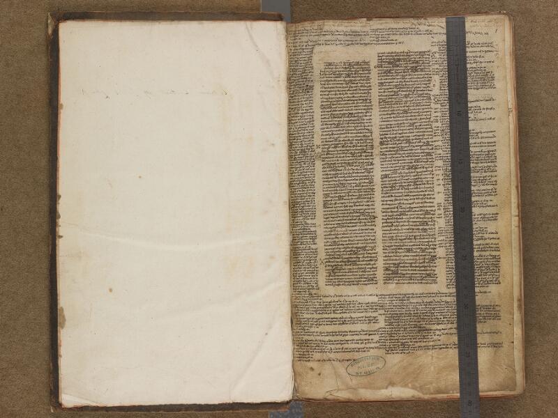 SAINT-OMER, Bibliothèque municipale, 0466, f. 000Av - f. 001 avec réglet