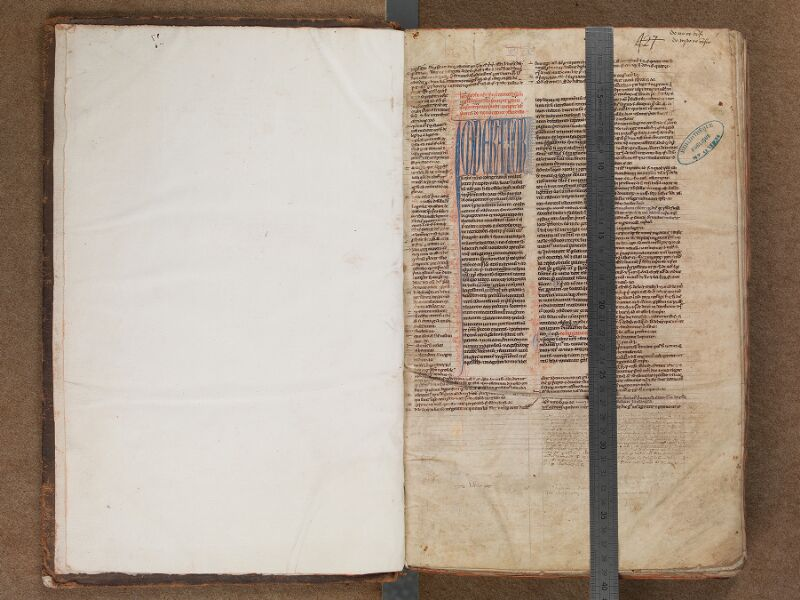 SAINT-OMER, Bibliothèque municipale, 0477, f. 000Av - f. 001 avec réglet
