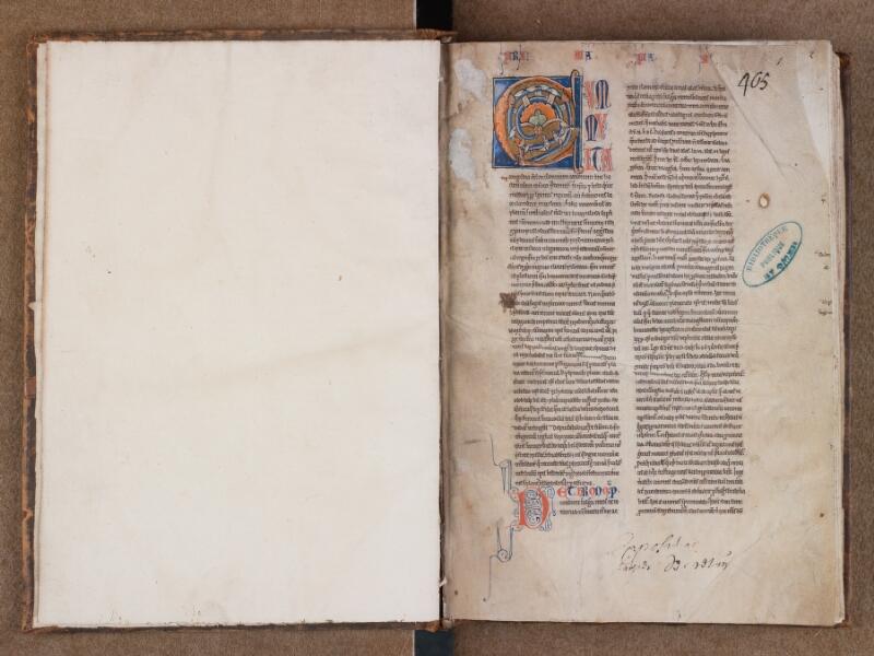 SAINT-OMER, Bibliothèque municipale, 0493, f. 000Bv - f. 001