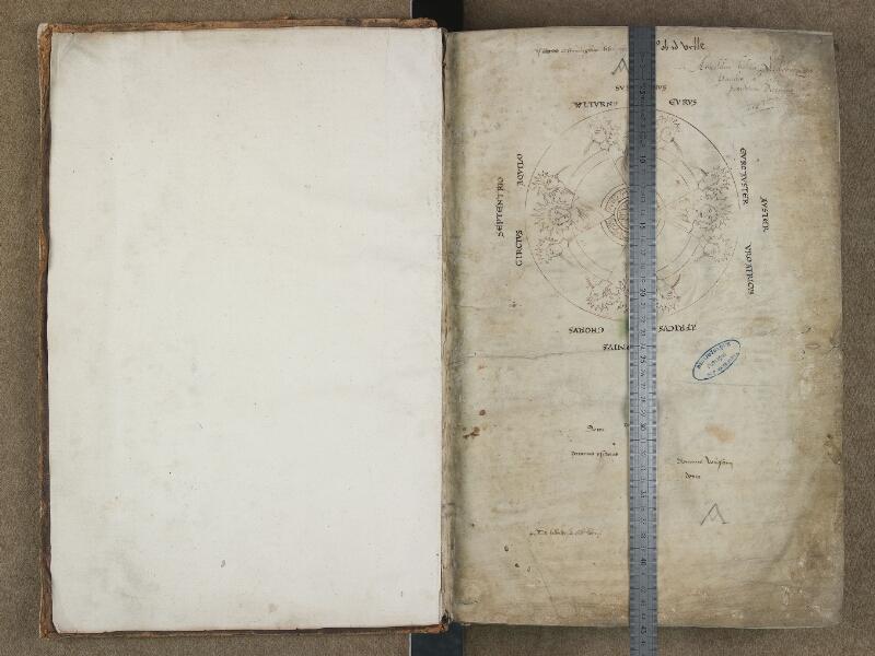 SAINT-OMER, Bibliothèque municipale, 0642, f. 000Av - f. 001 avec réglet
