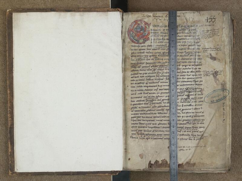 SAINT-OMER, Bibliothèque municipale, 0664, f. 000Av - f. 001 avec réglet
