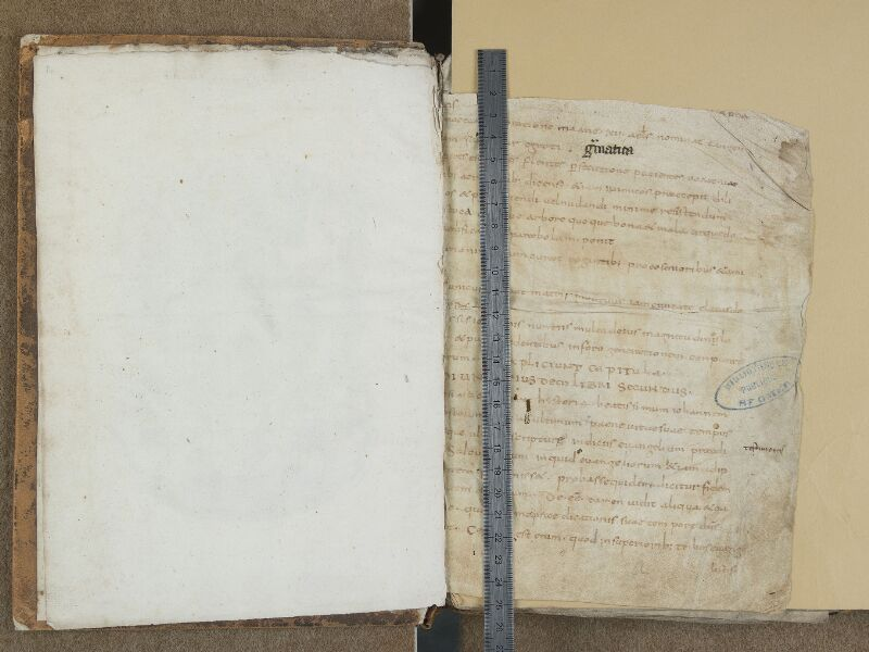 SAINT-OMER, Bibliothèque municipale, 0666, f. 000Av - f. 001 avec réglet