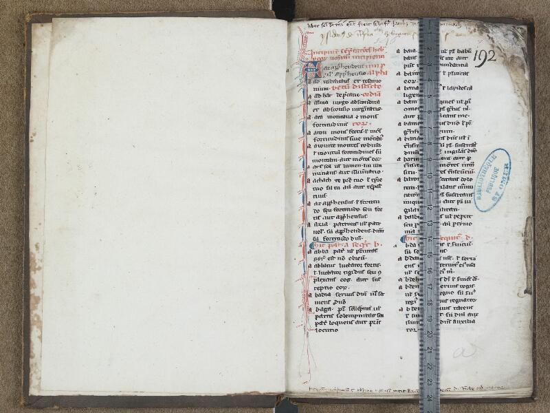 SAINT-OMER, Bibliothèque municipale, 0668, f. 000Av - f. 001 avec réglet