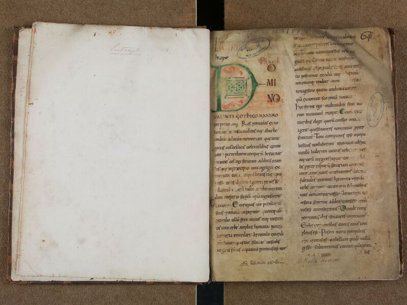 SAINT-OMER, Bibliothèque municipale, 0697, f. 000Cv - f. 001