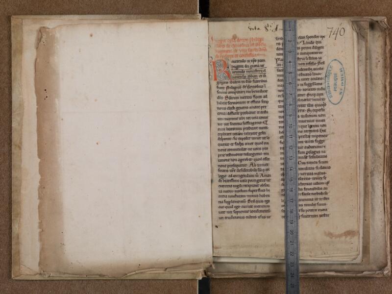 SAINT-OMER, Bibliothèque municipale, 0788, f. 000Av - f. 001 avec réglet