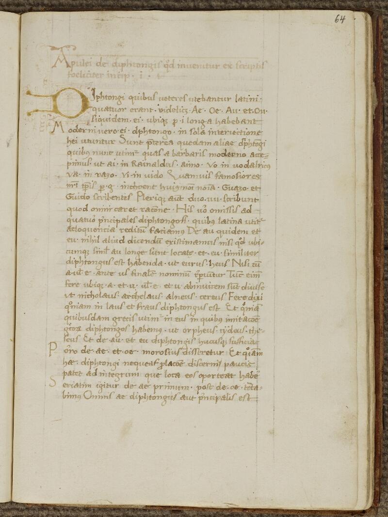 Strasbourg, Bibl. univ., ms. 0075, f. 064