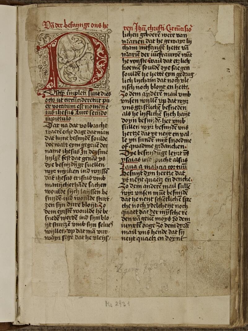 Strasbourg, Bibl. univ., ms. 2931, f. 001 - vue 2