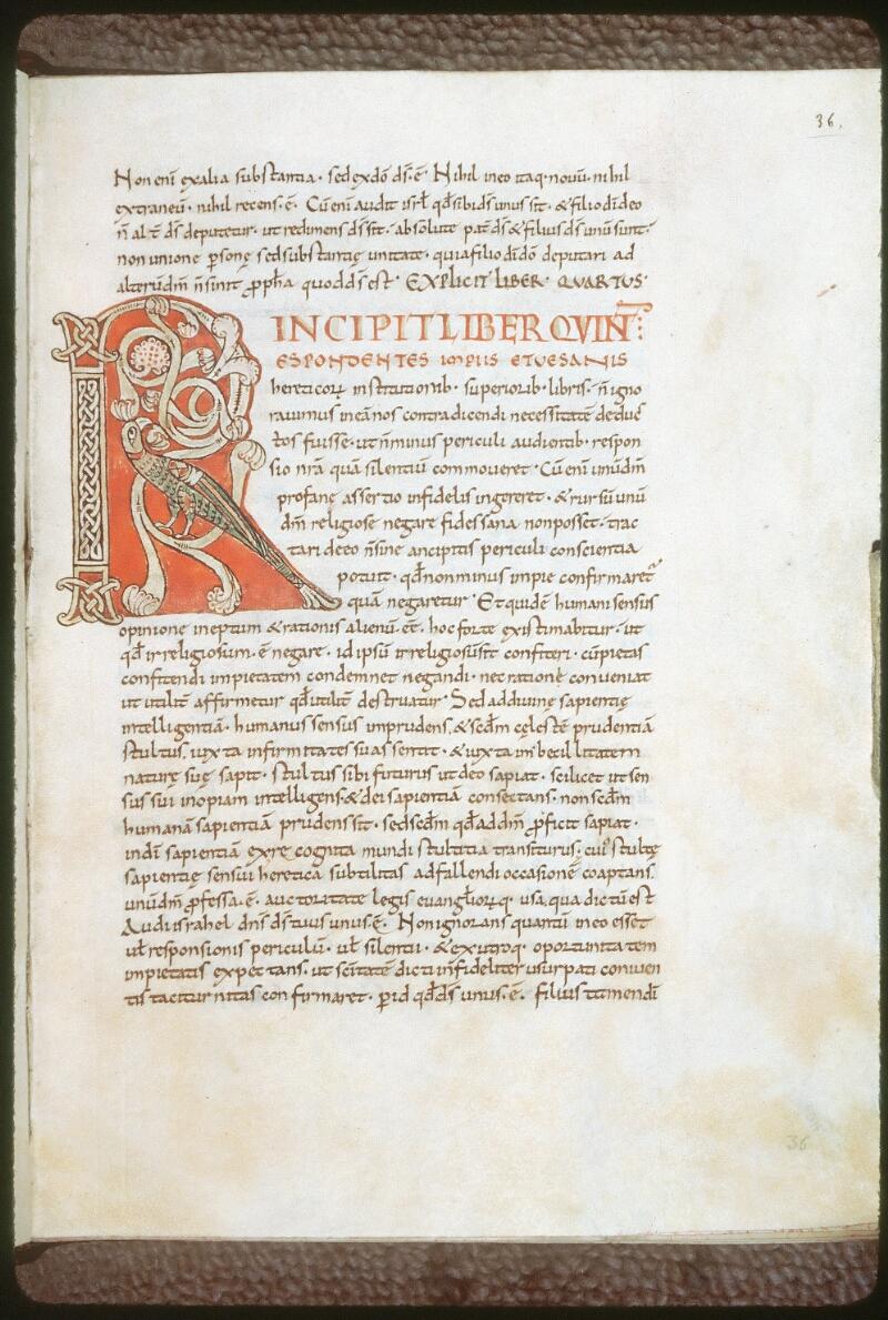 Tours, Bibl. mun., ms. 0264, f. 036 - vue 1