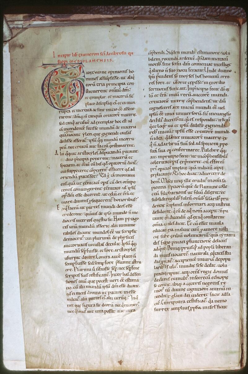Tours, Bibl. mun., ms. 0270, f. 001v