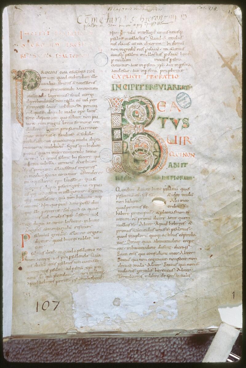 Tours, Bibl. mun., ms. 0278, f. 001 - vue 1