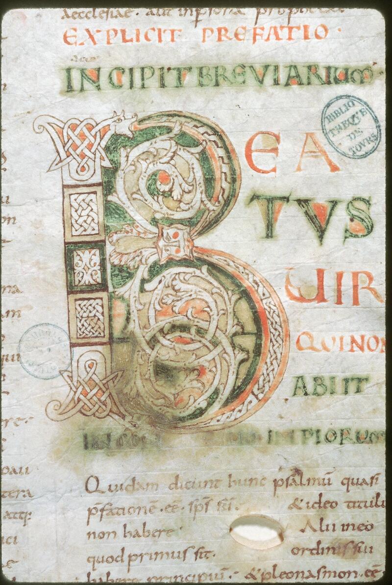 Tours, Bibl. mun., ms. 0278, f. 001 - vue 2