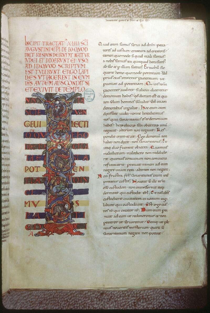 Tours, Bibl. mun., ms. 0291, f. 009 - vue 1