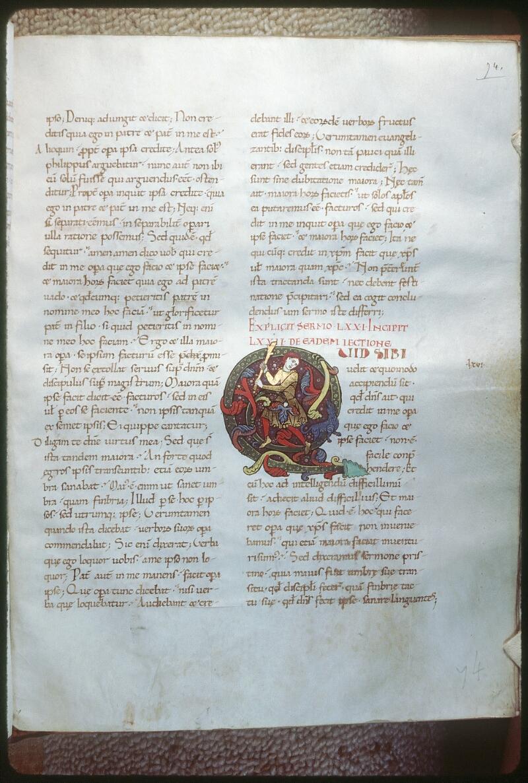 Tours, Bibl. mun., ms. 0291, f. 074 - vue 1