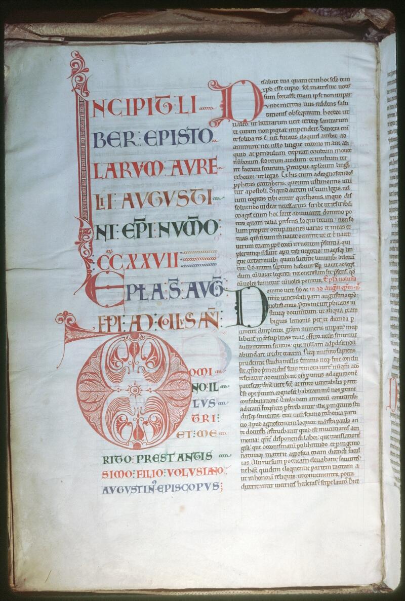 Tours, Bibl. mun., ms. 0295, f. 002v - vue 1