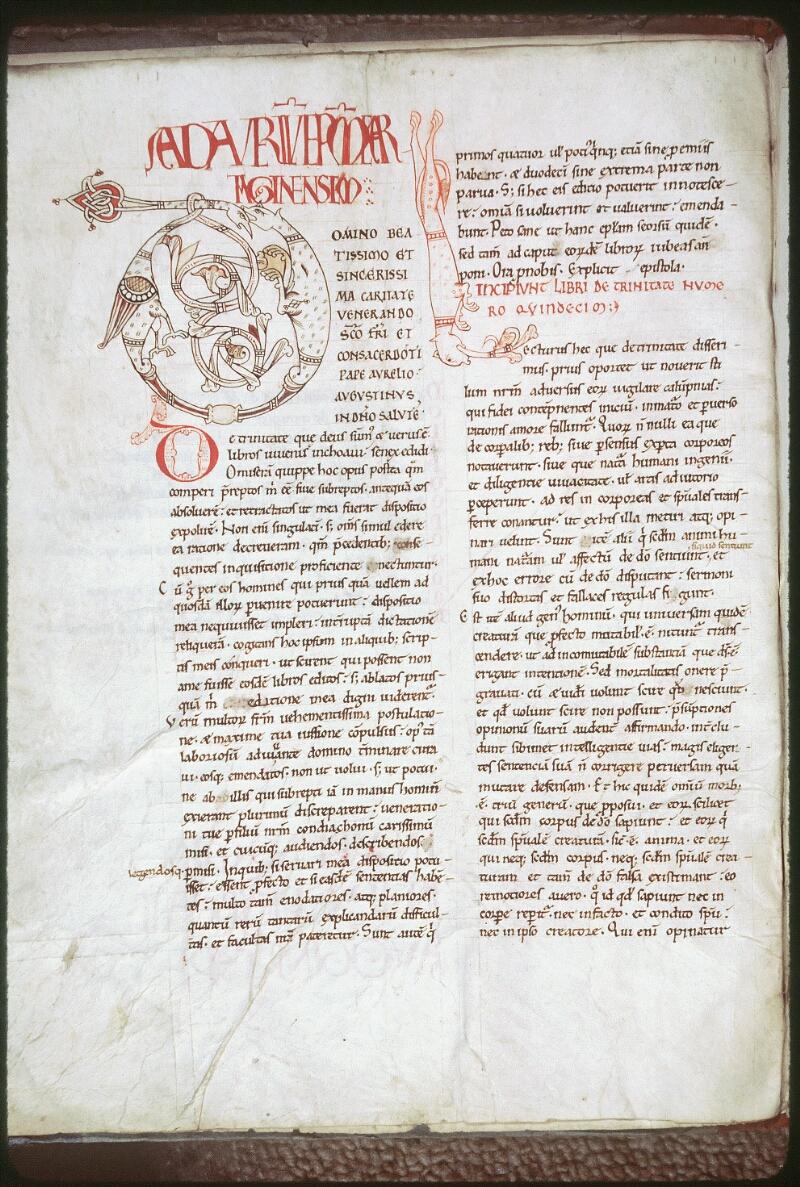 Tours, Bibl. mun., ms. 0297, f. 004v - vue 1