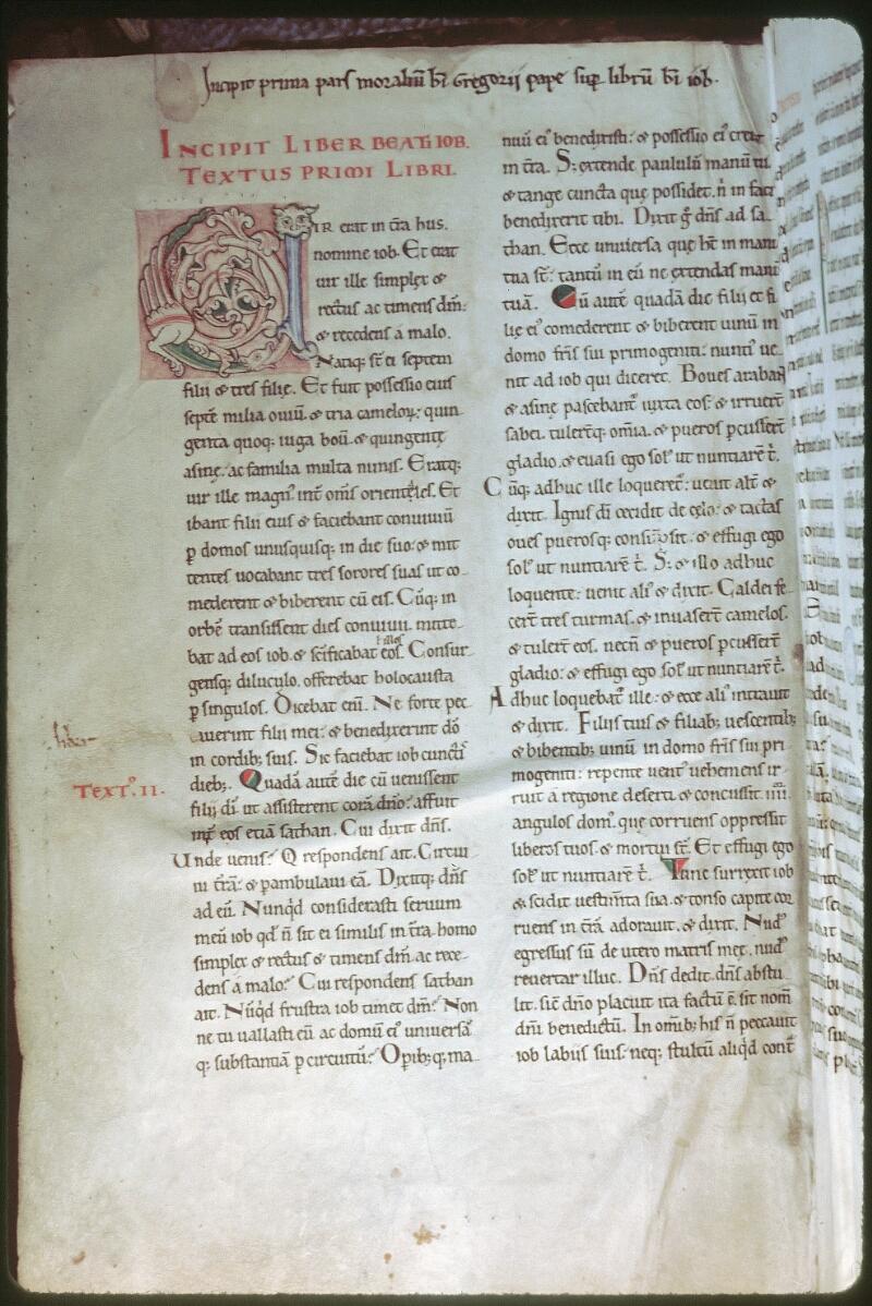 Tours, Bibl. mun., ms. 0318, f. 001v - vue 1