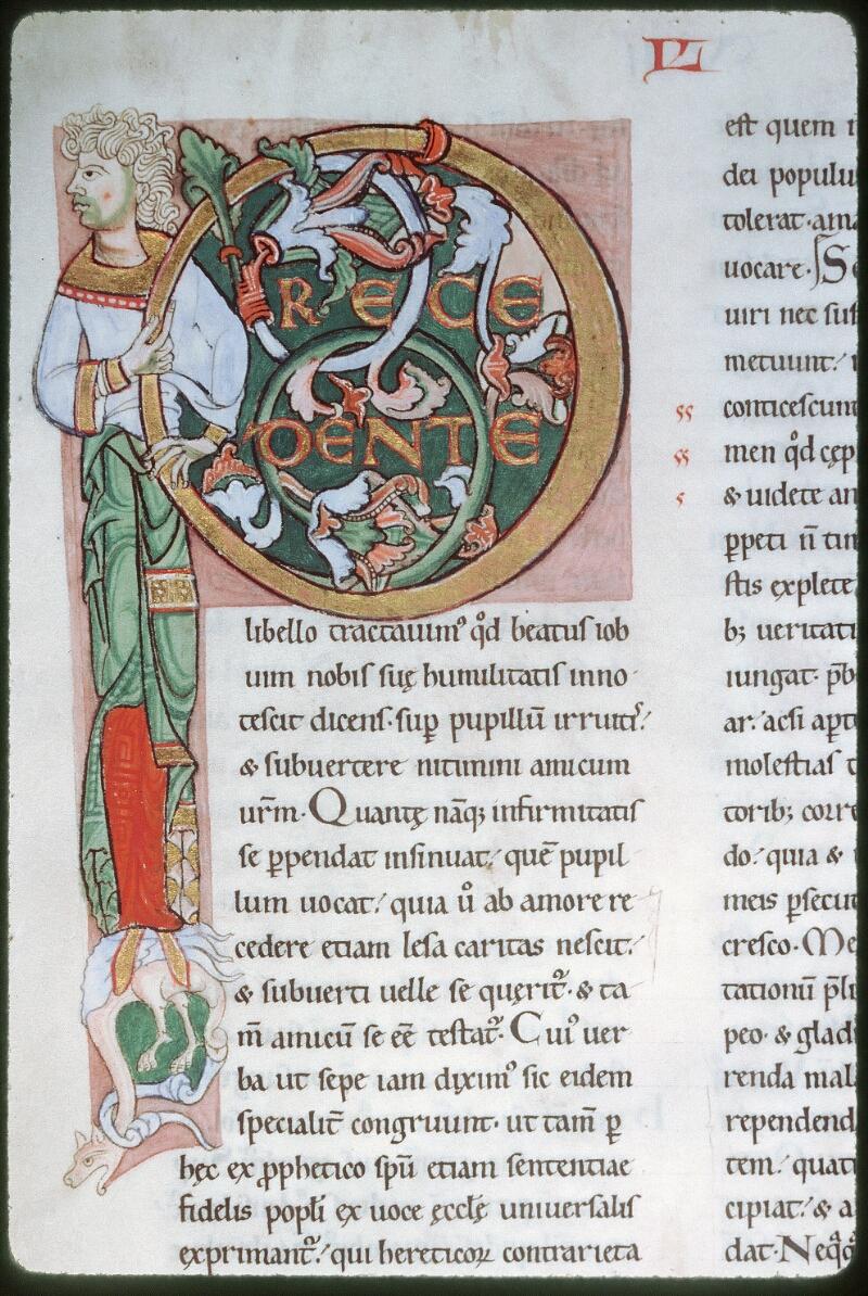 Tours, Bibl. mun., ms. 0318, f. 129v - vue 1