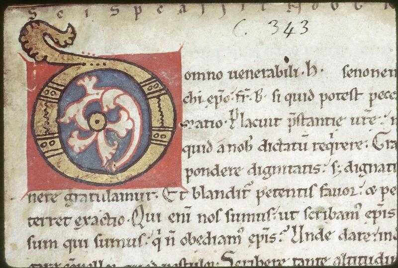 Tours, Bibl. mun., ms. 0343, f. 001 - vue 2