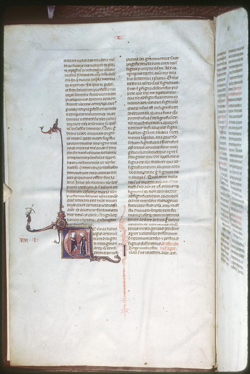 Tours, Bibl. mun., ms. 0355, f. 001v - vue 1