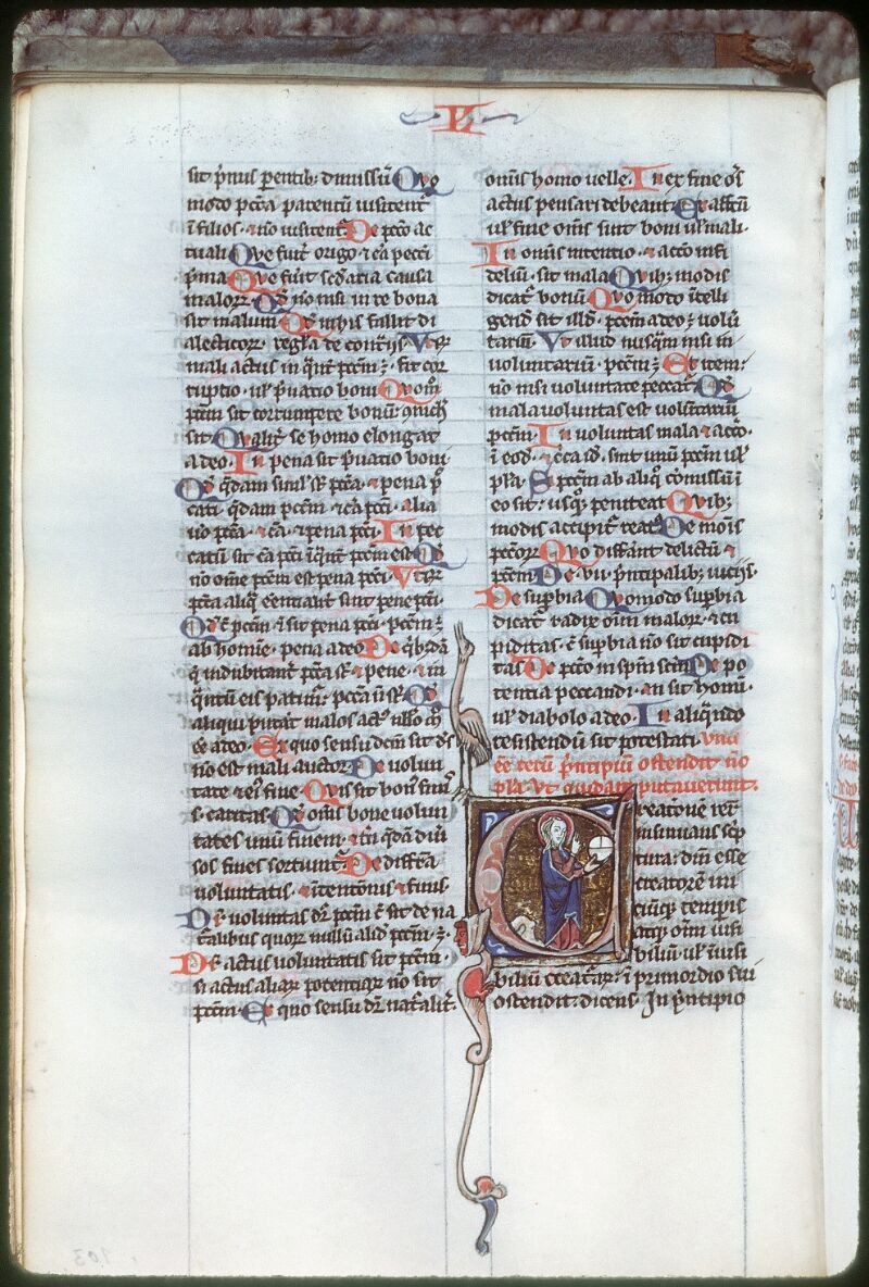 Tours, Bibl. mun., ms. 0356, f. 103v - vue 1