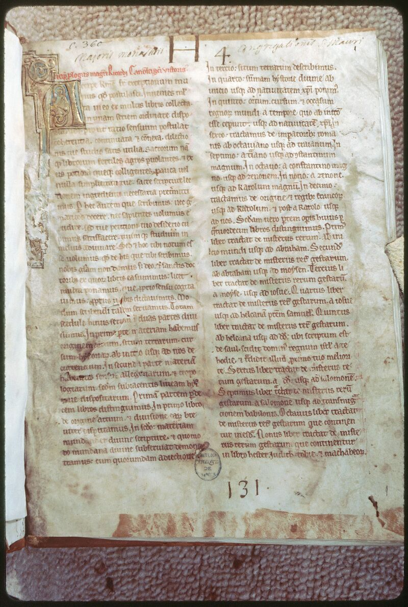Tours, Bibl. mun., ms. 0360, f. 001