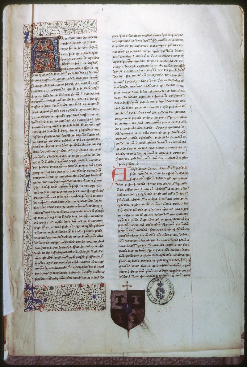 Tours, Bibl. mun., ms. 0389, f. 001 - vue 1