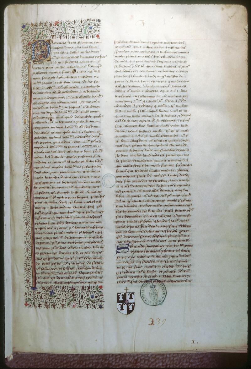 Tours, Bibl. mun., ms. 0391, f. 001 - vue 1