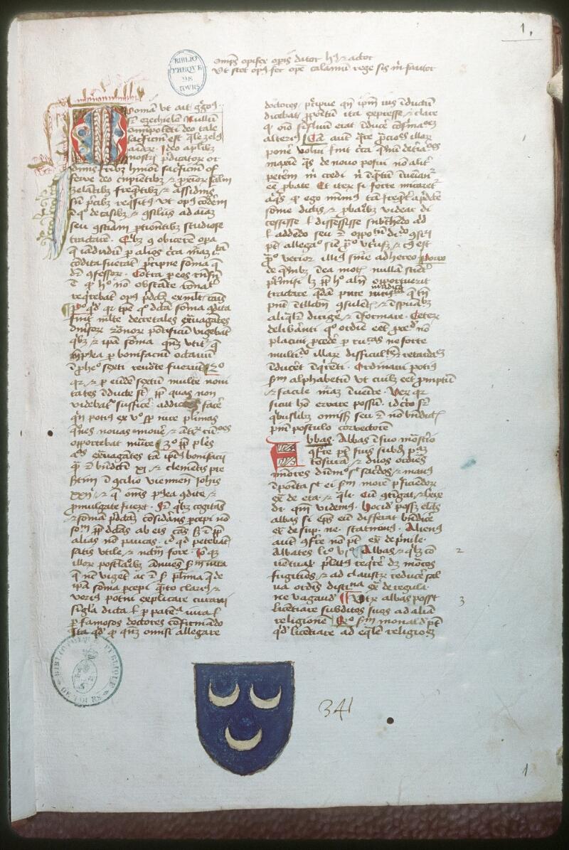 Tours, Bibl. mun., ms. 0453, f. 001 - vue 1