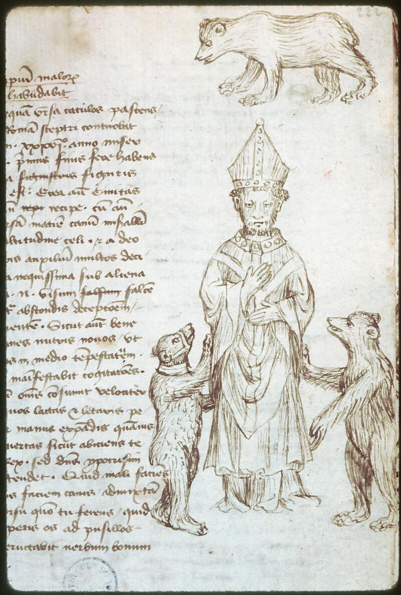 Tours, Bibl. mun., ms. 0520, f. 222 - vue 2