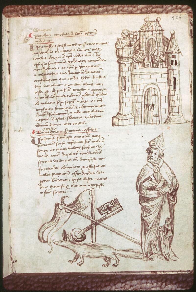Tours, Bibl. mun., ms. 0520, f. 224 - vue 1
