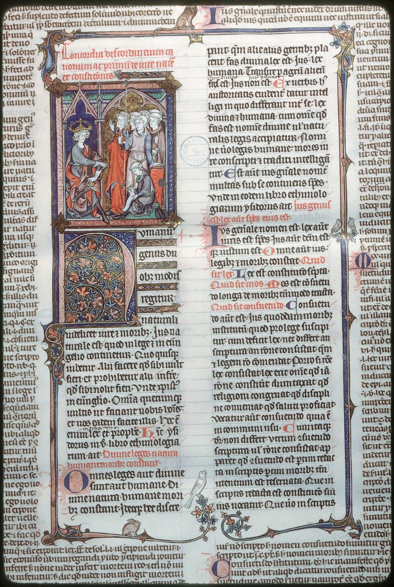 Tours, Bibl. mun., ms. 0558, f. 001 - vue 2