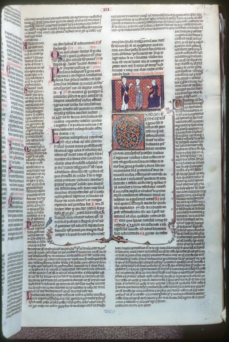 Tours, Bibl. mun., ms. 0558, f. 135 - vue 1