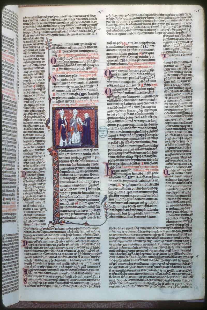 Tours, Bibl. mun., ms. 0558, f. 145 - vue 1