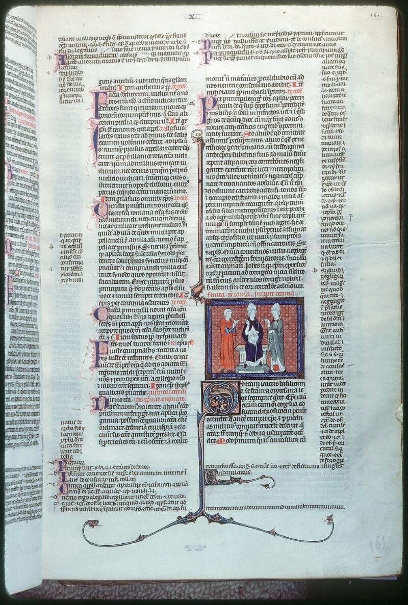 Tours, Bibl. mun., ms. 0558, f. 161 - vue 1